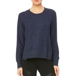 Alo glimpse top in navy Heather - almost new